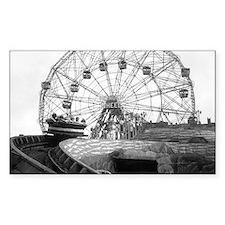 Coney Island Amusement Rides 1 Decal