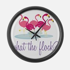What The Flock? Large Wall Clock