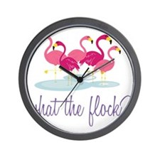 What The Flock? Wall Clock