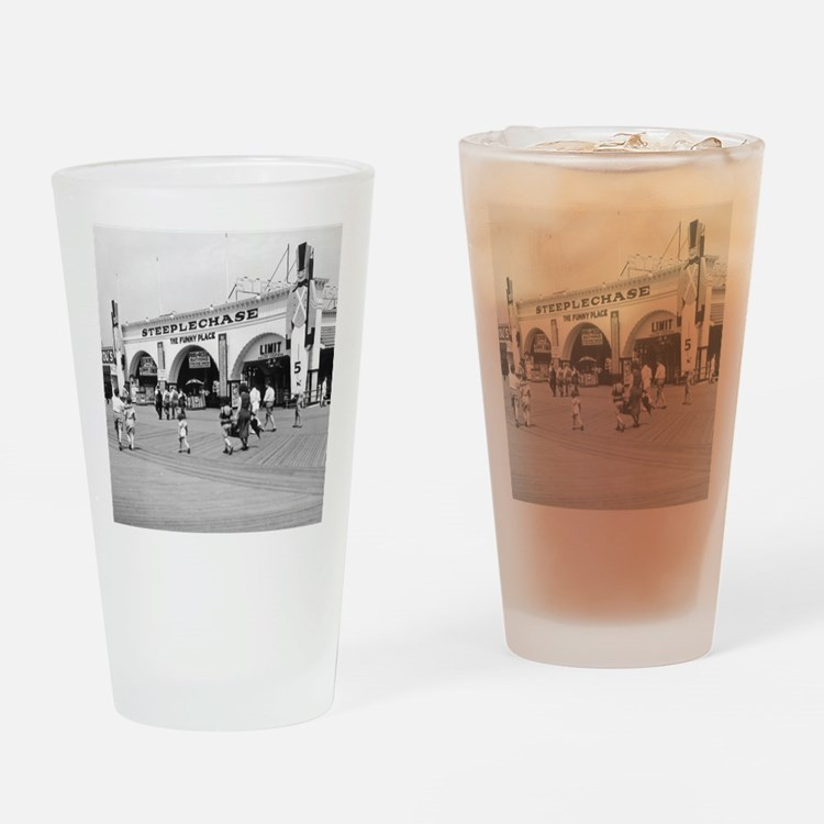 Steeplechase on Coney Island 182658 Drinking Glass