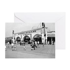 Steeplechase on Coney Island 1826580 Greeting Card