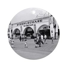 Steeplechase on Coney Island 182658 Round Ornament