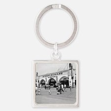 Steeplechase on Coney Island 18265 Square Keychain