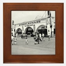 Steeplechase on Coney Island 1826580 Framed Tile
