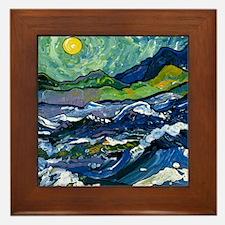 Van Goghs Sky Framed Tile