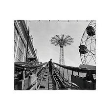 Coney Island Roller Coaster 1826597 Throw Blanket