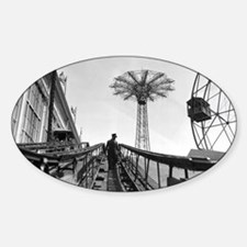Coney Island Roller Coaster 1826597 Sticker (Oval)
