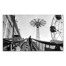 Coney Island Roller Coaster 18 Decal