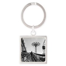 Coney Island Roller Coaster 182659 Square Keychain
