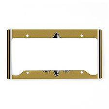 Black and gold fleur de lis License Plate Holder