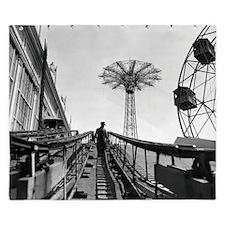 Coney Island Roller Coaster 1826597 King Duvet