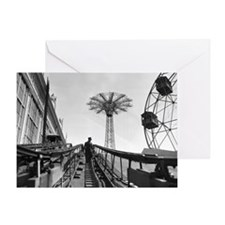 Coney Island Roller Coaster 1826597 Greeting Card