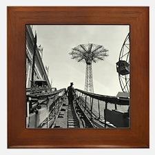 Coney Island Roller Coaster 1826597 Framed Tile