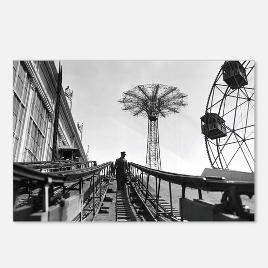 Coney Island Roller Coast Postcards (Package of 8)