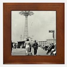Coney Island Parachute Jump 1826579 Framed Tile
