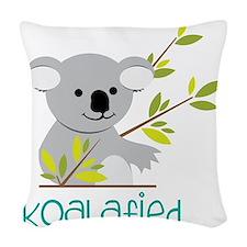 Koalafied Woven Throw Pillow