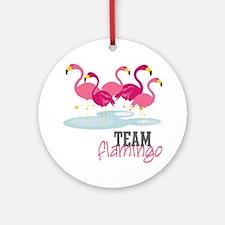 Team Flamingo Round Ornament