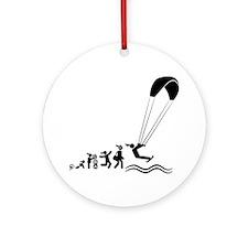 Kiteboarding-AAI1 Round Ornament