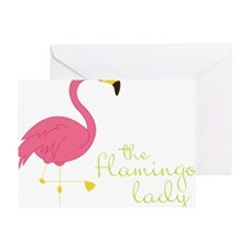 The Flamingo Lady Greeting Card