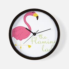 The Flamingo Lady Wall Clock
