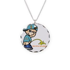 Piss on MS Necklace Circle Charm