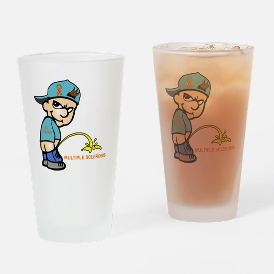 Piss on MS Drinking Glass