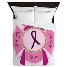 Awareness Ribbon Queen Duvet