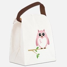 Awareness  Owl Canvas Lunch Bag