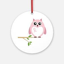 Awareness  Owl Round Ornament