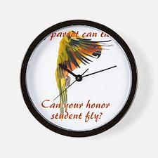 Sun Conure my parrot can fly Steve Dunc Wall Clock
