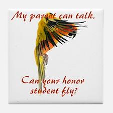 Sun Conure my parrot can fly Steve Du Tile Coaster