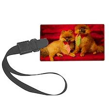 Pomeranian portrait Luggage Tag