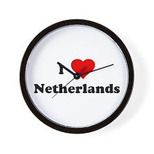 I Love Netherlands Wall Clock