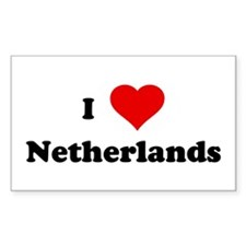 I Love Netherlands Rectangle Decal
