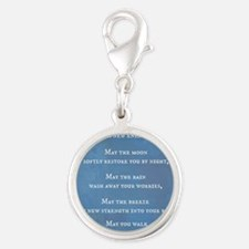 Apache Blessing Silver Round Charm