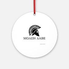Molon Labe Round Ornament