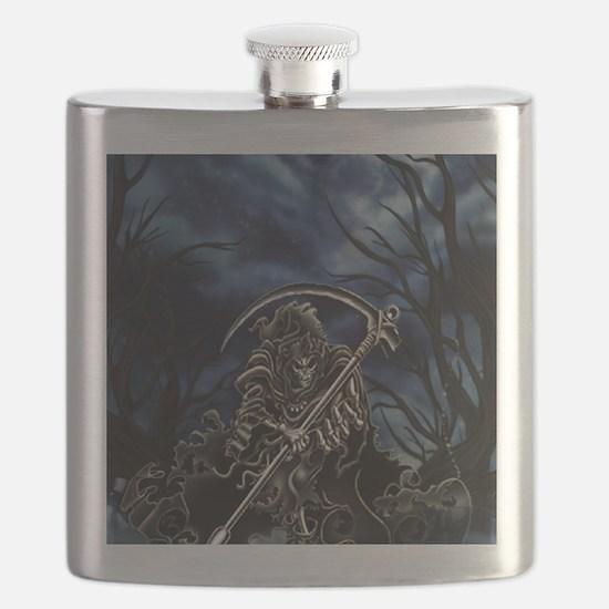 GRIM REAPER AT NIGHT Flask