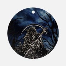 GRIM REAPER AT NIGHT Round Ornament