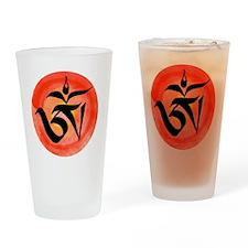 OM - Tibetan Drinking Glass