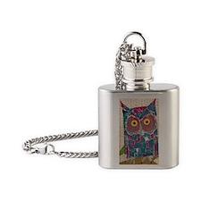 Averys Owl (journal) 2 Flask Necklace