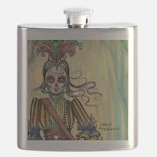 Victorian Drummer Girl messenger bag Flask