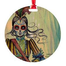 Victorian Drummer Girl messenger ba Ornament