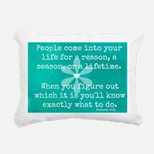 People Come into Our liv Rectangular Canvas Pillow