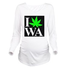I Love WA Long Sleeve Maternity T-Shirt