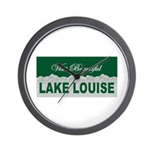 Visit Beautiful Lake Louise, Wall Clock