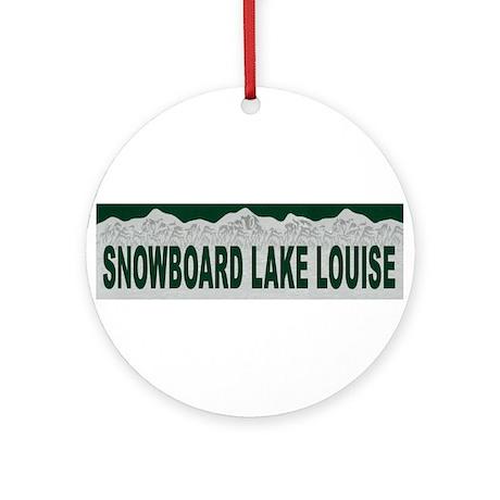 Snowboard Lake Louise, Albert Ornament (Round)