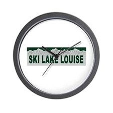 Ski Lake Louise, Alberta Wall Clock