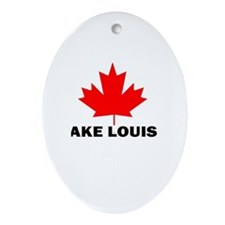 Lake Louise, Alberta Oval Ornament