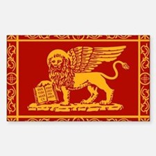 venetian flag rug Decal