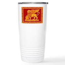 venetian flag rug Travel Coffee Mug